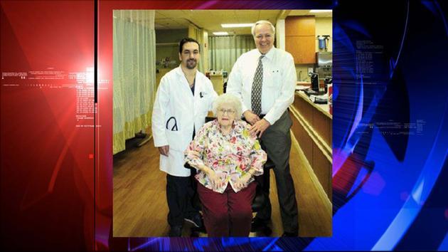 Dr. Rick Ganim reunites with heart patient Marie Holt