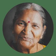 Elderly Indian Woman smiling