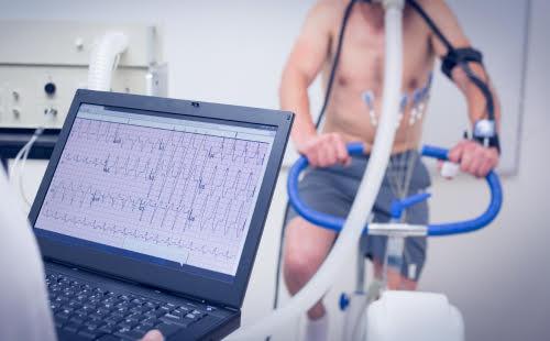 cardiac stress test - vital heart and vein